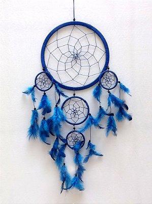 Apanhador de Sonhos (Dream Catcher) Azul 55cm