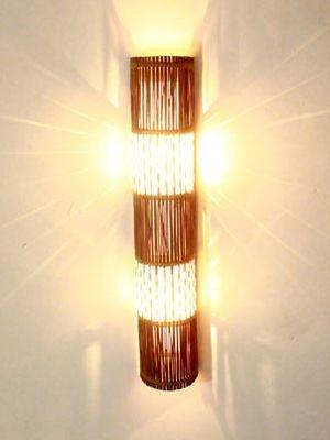 Arandela Rústica em Coluna p/ Decoração 80cm