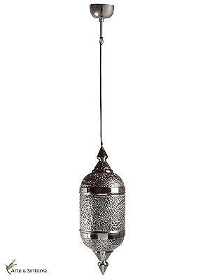 Pendente Indiano p/ decoração - Metal Rendado 78x25cm