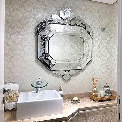 Espelho Veneziano Oitavado 95cm