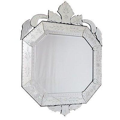 Espelho Decorativo Oitavado 126x100 - Estilo Veneziano