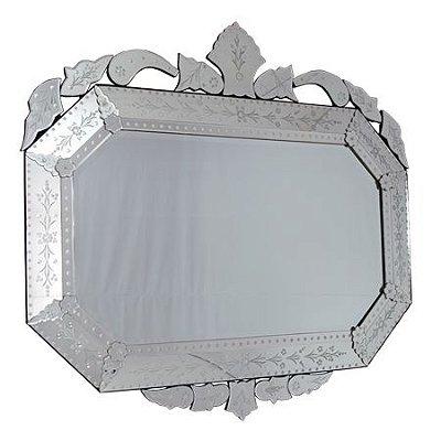 Espelho Veneziano Decorativo Oitavado - 128x138cm