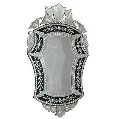 Espelho Clássico Bisotado 123x70cm - Estilo Veneziano