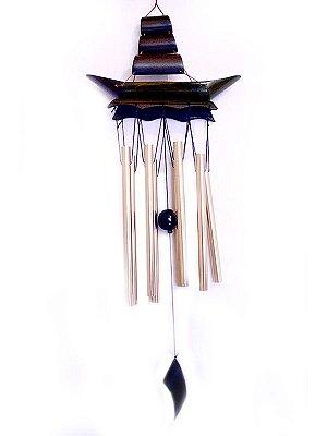 Sino / Mensageiro dos Ventos em Bambu 58cm