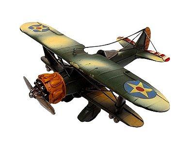 Miniatura de Avião em Metal 15x33cm