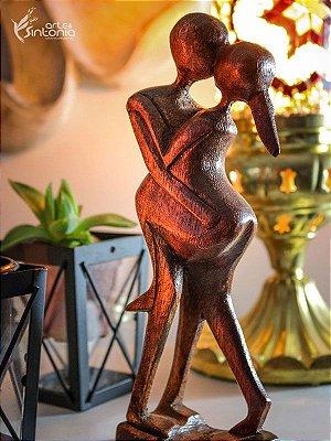 """Escultura Abstrata """"O beijo"""" - Bali"""