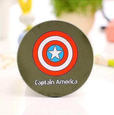 Porta Copo Silicone Super-Heróis Capitão América (2 unidades)