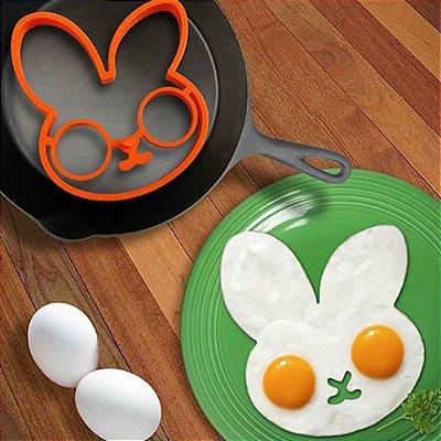 Forma para Fritar Ovos de Silicone Coelho