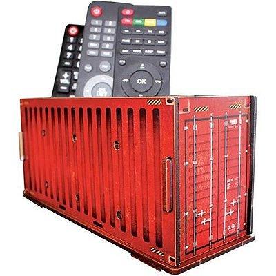 Porta Controle Remoto Container Vermelho
