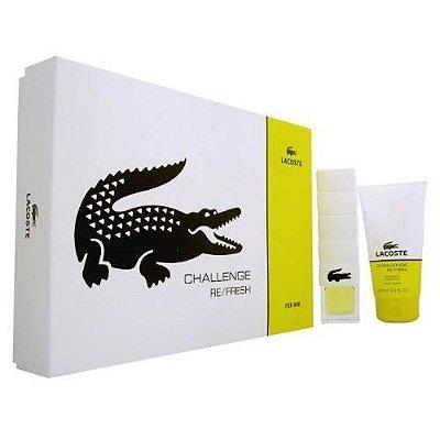 Kit Lacoste Challenge Refresh Masculino 90ml + Shower Gel 150ml