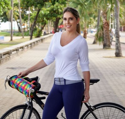 Bolsa para bicicleta estampa xadrez