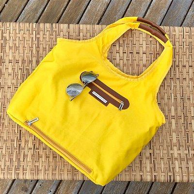 Bolsa de tecido amarela nylon chuva