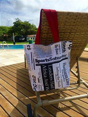 Bolsa de Tecido estampa Jornal stamp