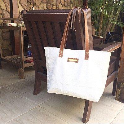 Bolsa de couro Branca Classica