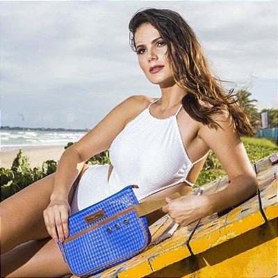 Necessaire de praia tela Azul ótima