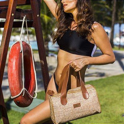 Bolsa de praia em tela Palhinha Basset