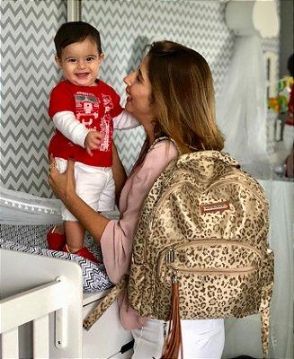 Mochila Maternidade Estampa Oncinha Multi Mãe