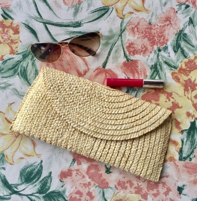 Clutch de Palha Natural Colorama