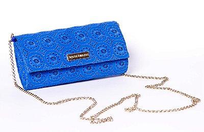Bolsa de festa em tecido azul Gripuir