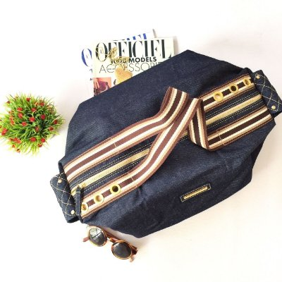 Bolsa jeans alca chocolate Hexagono