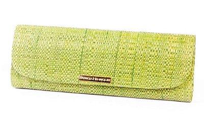 Carteira de palha verde big