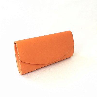 Carteira feminina laranja cetim stamp