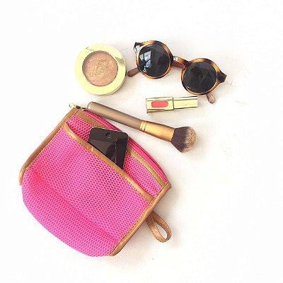 Necessaire para maquiagem pink Drylex mini