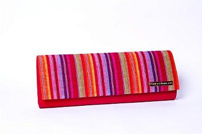 clutch colorida arco-íris