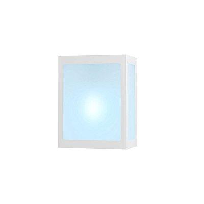 Arandela Alumínio  Quadrada E-27 5 Fachos Ideal  Iluminação