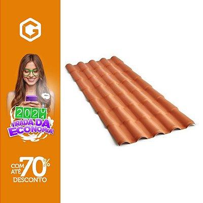TELHA COLONIAL PVC 2,30X86 5 ONDAS TERRACOTA