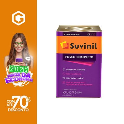 TINTA AC FOSCO BRANCO SUVINIL 18L