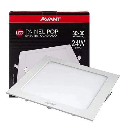 PAINEL LED EMB.POP QUAD.30CM 24W 3000K BIVOLT