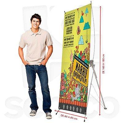 Porta Banner X - Fibra Ajustável (Banner de 60)