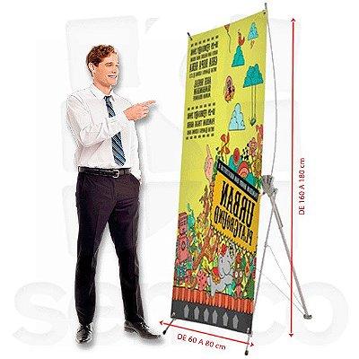 Porta Banner X - Fibra Ajustável (Banner de 80)