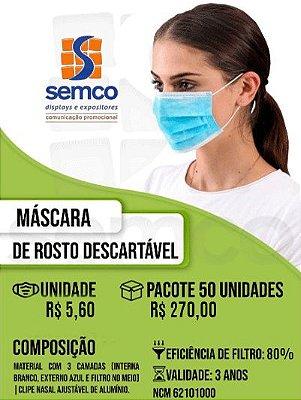 Máscara Tricamada Descartável (cx c/ 50)