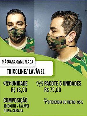 Máscara Tricoline Camuflada