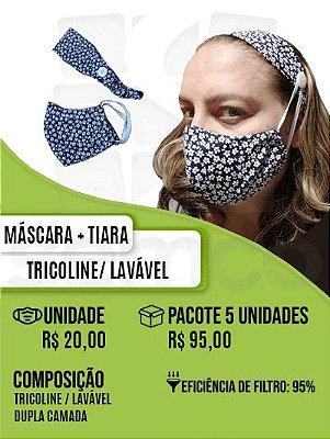 Máscara + Tiara Tricoline