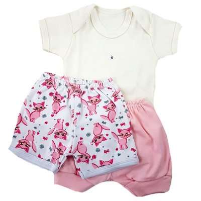 3df451339c Conjunto Body + 2 shorts Menina