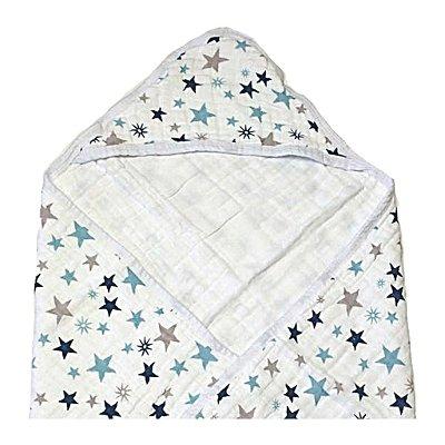 Toalha de Banho Swaddle Estrelas Azul