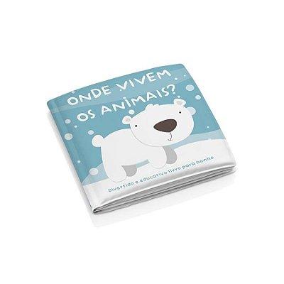Livro Educativo Para Banho Infantil animais  - Multikids Baby
