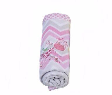 Cobertor Soft para Bebê Chevron Rosa