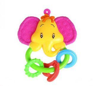 Chocalho Elefantinho Rosa