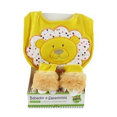 Kit Babador e Pantufa Leaõzinho- Amarelo Zip Toys