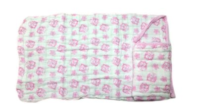 Paninho de Boca Soft Coruja Rosa - 2 unidades