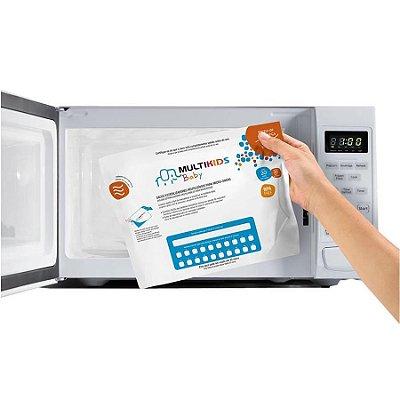Kit 6 Sacos Esterilizador Reutilizável para Microondas Saquinho Higienizador Multikids Baby