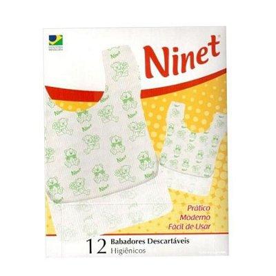 Babador Descartável Pocket Bibs, 12 Pcs Ninet