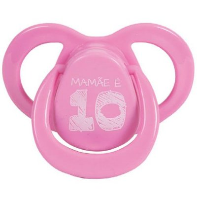 Chupeta Bico Ortodôntico Fun Mamãe é 10 Baby Go - Rosa 6+