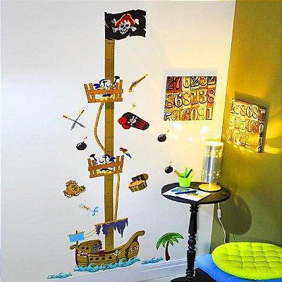 Régua de Altura Adesiva para Parede - Pirata