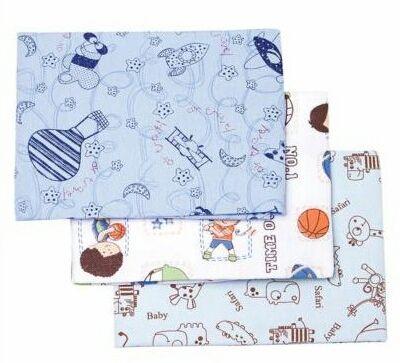 Conjunto Cueiro Estampado Azul  80x60- 3 unidades - Papi Têxtil