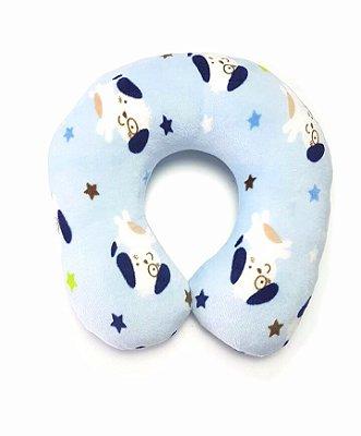 Suporte de Pescoço Cachorinhos azul